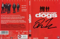 Quentin Tarantino Signed Reservoir Dogs DVD Cover