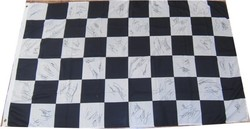 Chequer Flag signed by 75