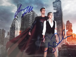 Cavill, Henry & Adams, Amy - authentic autograph - Man of Steel