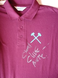 Clive Burr Iron Maiden Signed Polo Shirt