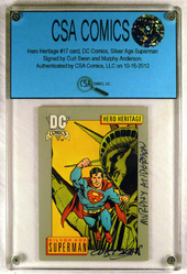Hero Heritage #17 card signed by Curt Swan and Murphy Anderson