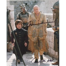 Peter Dinklage & Conleth Hill SIGNED IN PERSON 10x8 photo GAME OF THRONES