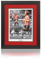 Tony Currie Hand Signed Sheffield United Montage