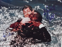 Moore, Roger & Kotto, Yaphet in Bond's Live and Let Die - 007 - Original autographs - UACC Reg.Dealer #251