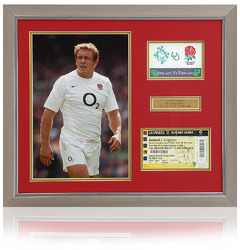 JONNY WILKINSON Hand Signed England Rugby match ticket presentation