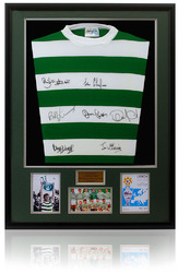 Celtic 1967 Cup Lisbon Lions Football Shirt Hand Signed x7
