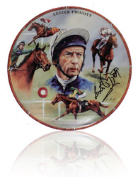 'Danbury Mint' Plate hand signed by Lester Piggott.