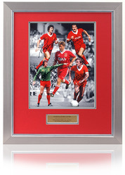 LIVERPOOL 16x12 Anfield Legends montage hand signed by 5