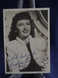 Stanwick, Barbara - authentic autograph