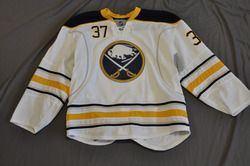 Matt Ellis Game Worn Buffalo Sabres Away Jersey 2010-11 Season Set 3 Size 56 Serial #4234