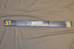 Tyler Myers Buffalo Sabres Locker Room Nameplate 2009-10 Season