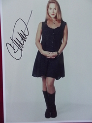 "Applegate, Christina - authentic autograph - ""Married with Children"" - ""Anchorman"""