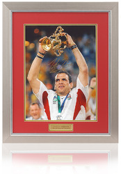 Martin Johnson hand signed England Rugby World Cup 2003 print