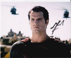 Henry Cavill AUTOGRAPH Superman Man Of Steel SIGNED IN PERSON 10x8