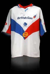 MARTIN OFFIAH Hand Signed GREAT BRITAIN Rugby League Shirt