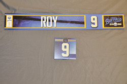 Derek Roy Buffalo Sabres Locker Room Nameplate & Dry Stall Plate 2010-11 Season