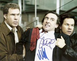 Will Ferrell, Mark Wahlberg & Steve Coogan signed 10x8 photo