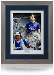 "Graham Sharp Hand Signed 16x12"" Everton F.C. Montage"
