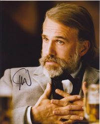 Christoph Waltz Autograph Django Unchained signed in person 10x8 photo