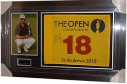 Louis Oostuizen Signed Open Flag