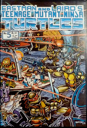 Eastman and Laird's Teenage Mutant Ninja Turtles #5, signed inside the cover