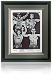 British Boxing World Champions hand signed montage
