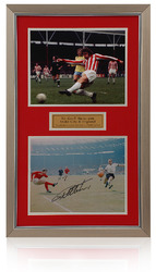 Sir Geoff Hurst Hand Signed Framed Stoke city Presentation