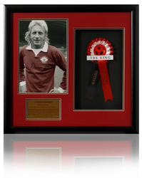Denis Law Hand Signed Manchester United Presentation