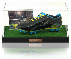 Jonah Lomu Hand Signed Rugby Boot New Zealand All Blacks