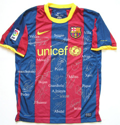 Barcelona replica home shirt signed