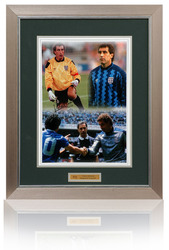 "Peter Shilton 16x12"" hand signed montage"