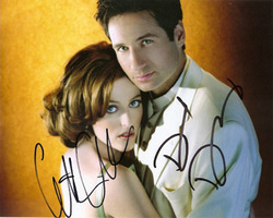 X-Files signed 10x8 photo.