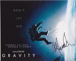 Sandra Bullock, Alfonso Cuaron & David Heyman AUTOGRAPHED Gravity SIGNED IN PERSON 10x8