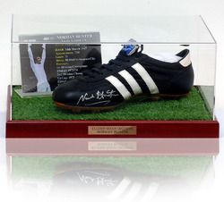 NORMAN HUNTER Hand Signed Football Boot