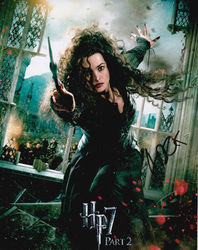 Helena Bonham Carter Signed Harry Potter 10x8 Photo