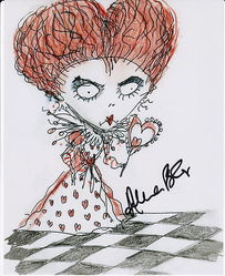 Helena Bonham Carter Autograph Queen Of Hearts signed in person 10x8 photo