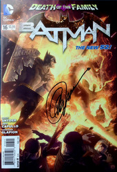 DC, Batman #16, Death of the Family, The New 52, signed by Greg Capullo