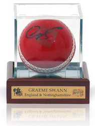 Cricket Ball hand signed by Graeme Swann