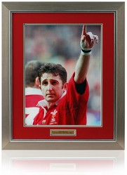 "Jonathan Davies hand signed 16x12"" Wales Rugby photograph"