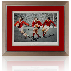 Welsh Rugby Legends hand signed montage