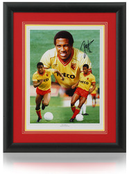 "John Barnes hand signed Watford FC 16x12"" montage"