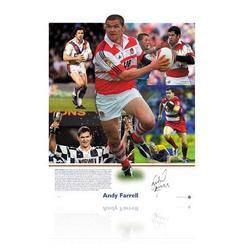 Andy Farrell hand signed montage