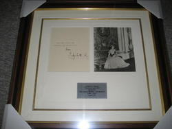 Queen Mother signed Christmas Card