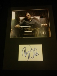 David Morrissey Signed Index Card The Walking Dead Presentation