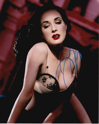 Dita Von Tesse Autograph signed in person 10x8