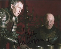 Ian Gelder & Charles Dance Autograph Game Of Thrones signed in person 10x8 photo
