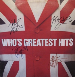 Signed Who Greatest Hits LP