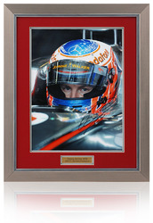 "Jenson Button Hand Signed 16x12"" Formula 1 Framed Photograph"