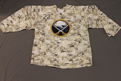 Brad Boyes Buffalo Sabres Special Edition Camouflage Jersey Worn on Veteran's Day during Pre-Game Skate on 11/11/11 Size 54
