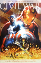Marvel, Civil War #1, Aspen Comics Exclusive, comic book, signed by Michael Turner